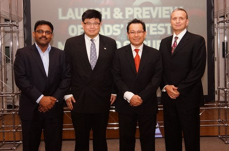 Photo – (From left) Vasanthamohan Vasudevan, General Manager, ICT Services, VADS Berhad; Dato' Seri George Chang, Vice President, South East Asia & Hong Kong, Fortinet; Ahmad Azhar Yahya, Chief Executive Officer, VADS Berhad; and Jeff Hurmuses, Vice President, Sales (APAC), Barracuda Networks.