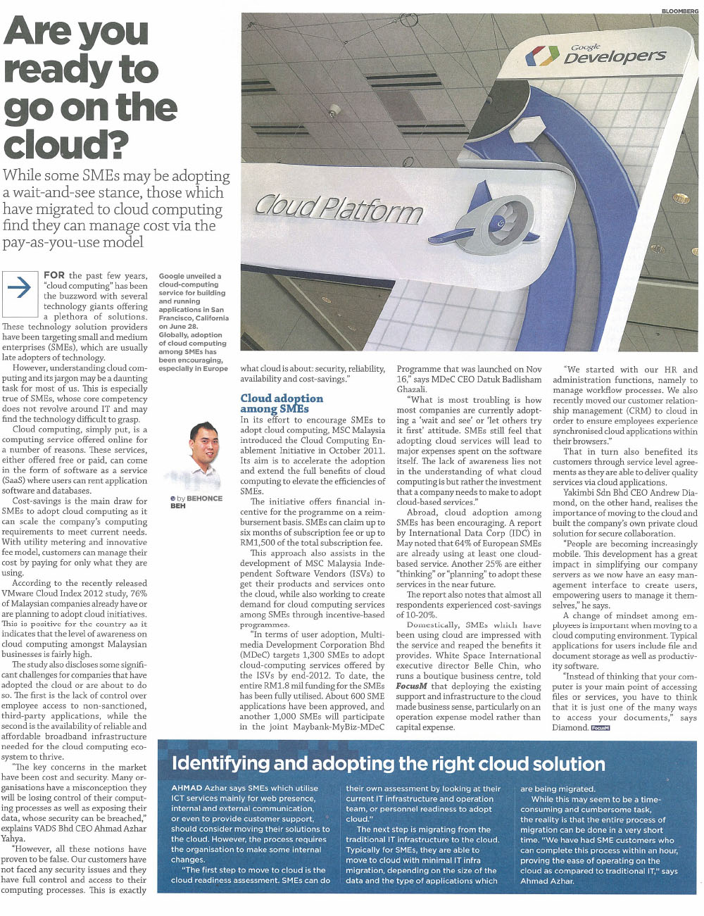 Are you ready to go on the Cloud?