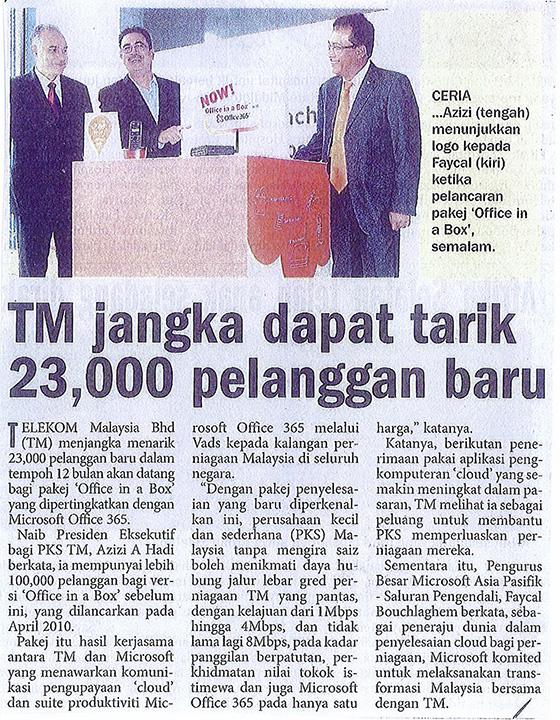 TM jangka dapat tarik 23,000 pelanggan baru