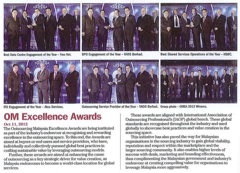 OM Excellence Award