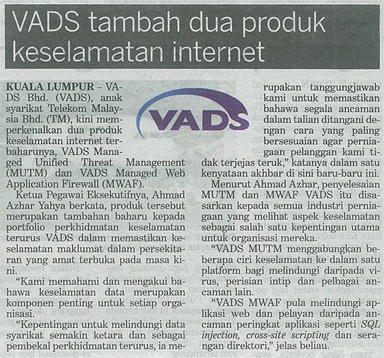 VADS tambah dua produk keselamatan internet