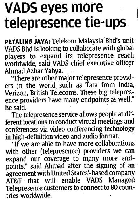 VADS eyes more telepresence tie-ups