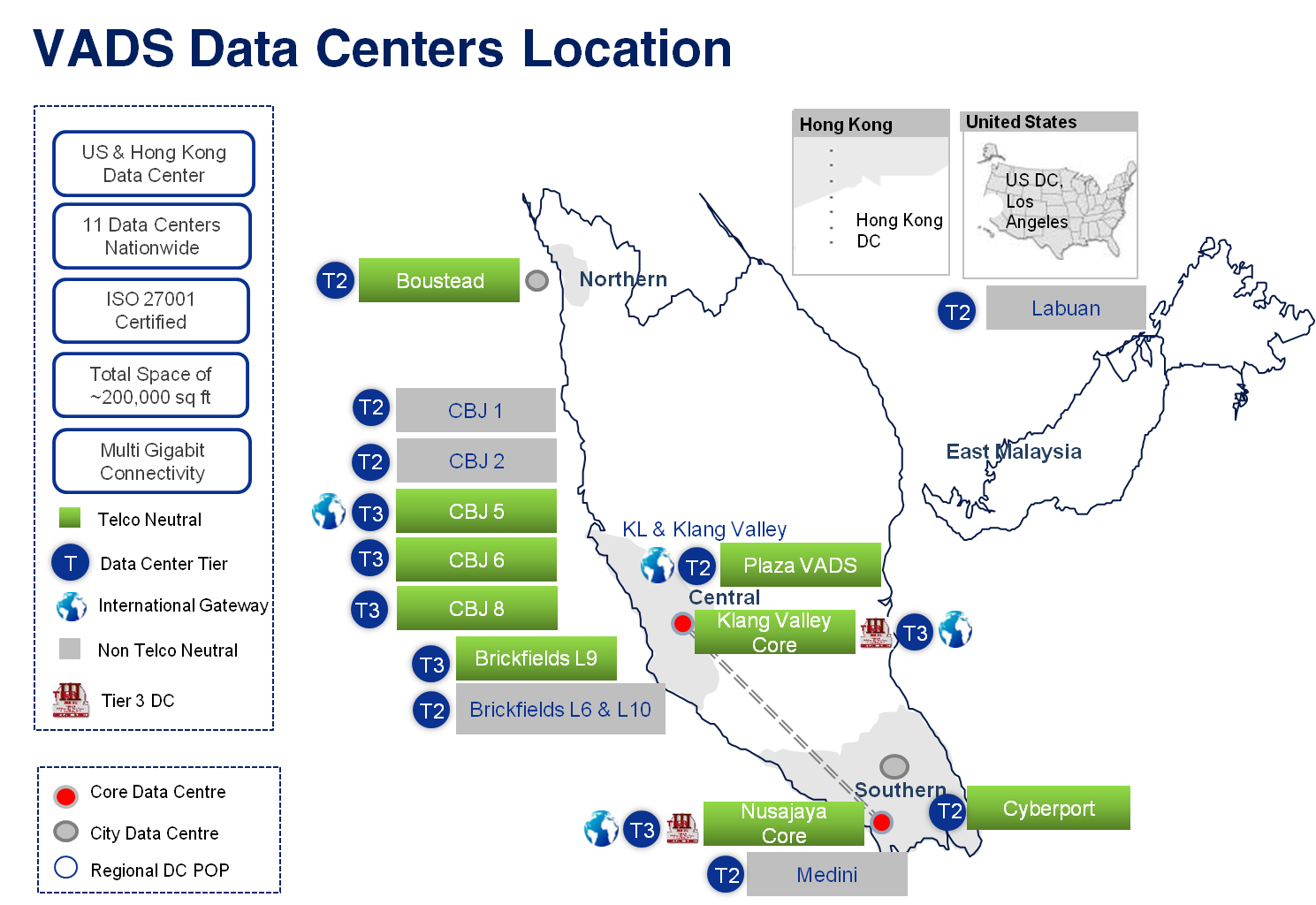 Data Centre Services Map